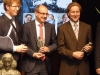 State Secretary for Education, Culture and Science Sander Dekker and NWO Spinoza laureates Bert Weckhuysen en Piek Vossen