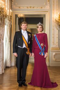 Zijne Majesteit Koning Willem-Alexander en Hare Majesteit Koningin Máxima, april 2013 © RVD, foto: Koos Breukel