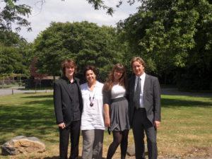 The FAMILY: Piek Vossen, Sam Vossen, Niqee Vossen and Anja Weisscher, June 2010